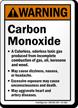 Warning Carbon Monoxide Sign