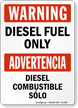 Bilingual Diesel Fuel Sign