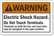 Warning Electric Shock Hazard Label