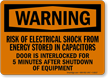 Warning Electrical Shock Risk Sign