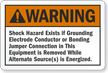 Warning Emergency Systems Grounding Label