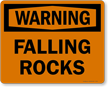 Warning - Falling Rocks Sign