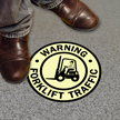 Forklift Traffic Floor Glow Sign