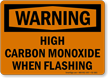 Warning High Carbon Monoxide Sign