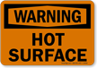 Warning: Hot Surface Sign