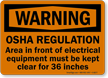 Electrical Equipment Warning Sign