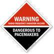 Warning Radio-Frequency Radiation Hazard Dangerous Sign