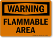 Flammable Area OSHA Warning Sign