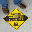 Caution - Watch for Forklifts with Clipart