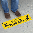 Watch Your Step GripGuard and SlipSafe Floor Sign
