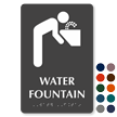 Water Fountain TactileTouch Braille Sign with Graphic