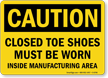 OSHA Caution PPE Sign