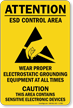 ESD Control Area Sign
