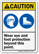 Wear Eye Foot Protection Beyond Point Sign