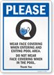 Wear Face Covering When Entering And Exiting Pool Sign