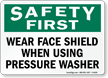 Wear Face Shield Goggles Sign