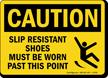 Wear Slip Resistant Shoes Caution Sign