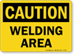 Welding Area Caution Sign