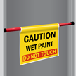 Wet Paint Do Not Touch Door Barricade Sign