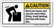 ANSI Caution Lifting Sign