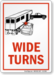 Wide Turns Horse Safety Sign