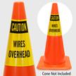 Caution Wires Overhead Cone Collar