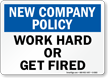Company Policy Sign