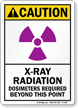 X-Ray Radiation, Dosimeters Required Sign