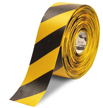 4 in. Solid Black/Yellow Floor Marking Tape