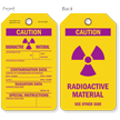 Caution Radioactive Material Contamination Data Tag