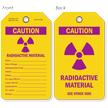 Caution Radioactive Material Radiation Tag
