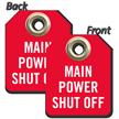 2-Sided Mini Shut-Off Tag