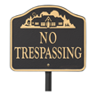 No Trespassing GardenBoss Estate Plaque