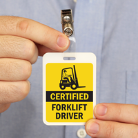 Certified Forklift Driver Badge