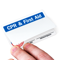 2-Sided CPR & First Aid Trained Wallet Card
