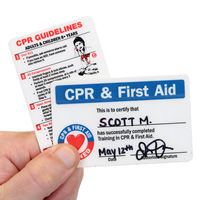 2-Sided First Aid Trained Wallet Card
