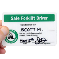 Self Laminating Forklift Wallet 2-Sided Card