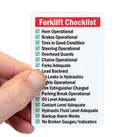 Self Laminating Forklift Wallet 2-Sided Cards
