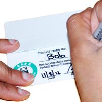 Self Laminating Forklift 2-Sided Wallet Card