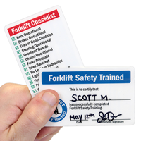 Forklift Safety Trained / Forklift Checklist