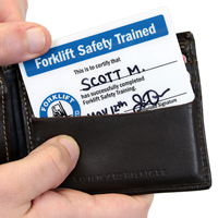 Two Sided Forklift Safety Trained / Forklift Checklist