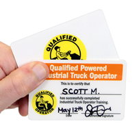 Double Sided qualified Operator Wallet Cards
