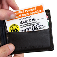 2-Sided Qualified Powered Industrial Truck Operator Wallet Card