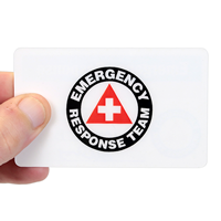 Self Laminating ,Emergency Response,Safety Wallet Card Two -Sided