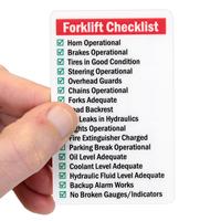Qualified Forklift Driver Safety Wallet Cards