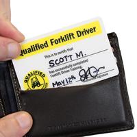 Qualified Forklift Driver / Forklift Checklist