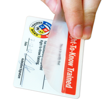 Right-To-Know Traine,Wallet card