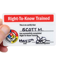 Right-To-Know Trained Safety Wallet Cards