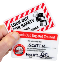 Lock-Out Tag-Out Trained, Wallet card