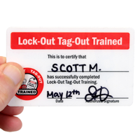 Lock-Out Tag-Out Trained Certificate/ Lock Out For Safety Shortcuts